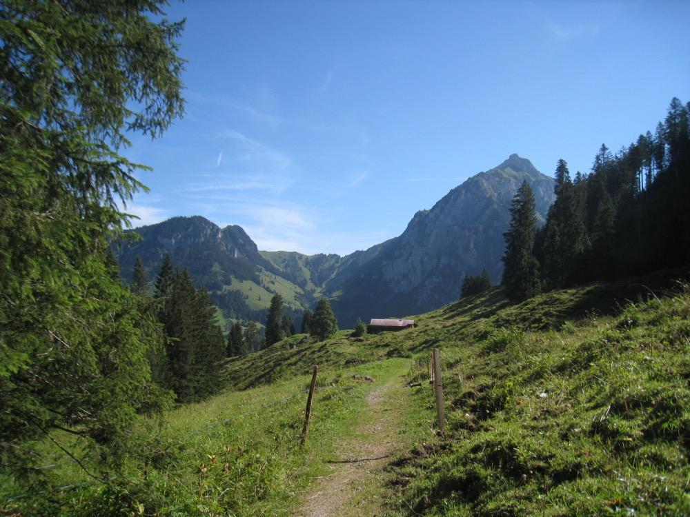 Alp Farnital; Wätterlatte  2006m, Renggpass 1816m, Dreispitz 2520m
