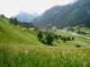 Blick gegen Montbiel und Canardhorn 2607m, Wisshorn 2668m