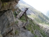 im steilen Hang oberhalb Saas Grund