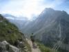 Blick ins Almagellertal mit Allmagellerhorn  3327m