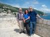 Ueli, Bruni und Herbert auf der  Stadtmauer von Dubvronik