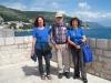 Bruni, Ueli und Marianne auf der  Stadtmauer von Dubvronik