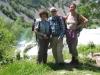 Marianne, Ueli und Bruni im Krupa-Canyon