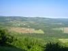 Sicht  von Motovun in die grüne Landschaft