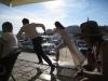 Filmen im Hafen von Rovinj