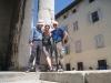 Herbert, Bruni und Hanspeter vor dem röm. Tempel