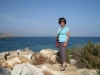 Marianne am Strand von Naxos