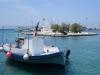 die Insel im Hafen von Naxos