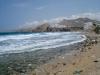 Warten auf die Fähre am Strand in Naxos
