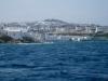 Blick zurück auf Mykonos