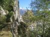 der Weg in der Felswand