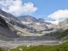 die mäandrierenden Wasserläufe der Lämmerendalu; Schneehore 3179m, Chlis Schneehore 3146m, WIldstrubel 3244m, Wildstrubelgletscher