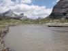 die Lämmeredalu mit  Rinderhorn 3449m, Plattenhörner  2845m,  Majinghorn 3054m