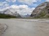 Chli Rinderhorn 3002m, Rinderhorn 3449m, Plattenhörner  2845m  Majinghorn 3054m,  Abhang des Daubenhorns 2850m