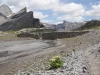 grosse Mauer beim Jägerboden;  Rinderhorn 3449m, Plattenhörner  2845m,  Majinghorn 3054m