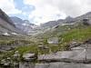 ein Blick zurück in die wilde Berglandschaft des Lämmerenbodens