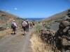 auf dem alten Camino hinunter  gegen die Küste