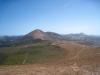 Weinanbaugebiet von La Geria; der Berg, den wir bestiegen haben