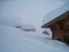 tief verschneite Lauchernalp