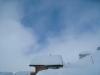 tief verschneite Lauchernalp; ein blaues Fenster