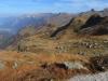 Blick beim Aufstieg zur Leglerhütte; Matzenstock 1952m, Charrenstock  2421m