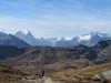 auf der  Leglerhütte 2273m: vo Vorstegstock 2678m, Glarner Tödi 3571m, Gemsfairenstock 2972m, Clariden 3267m, Chli Clariden 3191m