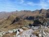 Abstieg von der Leglerhütte; Charenstock 2422m, Berglihorn 2427m, WIldmadfurggeli 2380m, Vorder-Mitller-Hinter Blistock 2400m