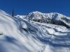 auf dem Weg nach Sporz; Lenzerhorn  2906m, Piz Linard  2768m