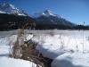Piz Naira 2870m, Lenzerhorn 2906m; Winteridylle am Heidsee