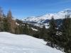 Blick auf Valbella; Churer Joch, Bergkette,Parpaner Schwarzhorn 2824m,  Parpaner Weisshorn 2824m