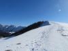 Sicht auf den Grat  Winterröscht 1736m: Tannhorn 2221m,  Schnierenhörnli 2049m, Gummhorn 2040m, Blasenhubel 1965m