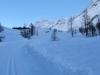 auf der verschneiten Strasse: Sattelhorn