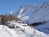 Gletscherstafel  1765m; Sattelhorn 3745m , Schinhorn 3797m