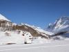 Gletscherstafel  1765m in der Sonne; Sattelhorn 3745m , Schinhorn 3797m