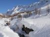 Bachbett der Lonza; Sattelhorn 3745m , Schinhorn 3797m