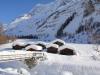 die Alphütten bei Kühmad 1625m nun an der Sonne