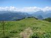 Sicht auf Furnerberg, Calanda; Eingang zum Prättigau