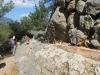 unterwegs im  Barranco  Biniaraix; Wasserleite re