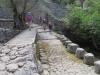 unterwegs im  Barranco  Biniaraix; zwei Arten von Brücken