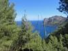 Blick vom Höhenweg auf das Meer