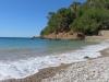 am Strand von Cala Tuent