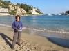 Marianne am Strand von Port Sollèr