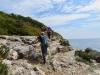 Aufstieg an der Steilküste