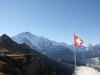 vo Tschuggen  2521m;  Jungfrau 4158m, Silberhorn 3695m,  Gletscherhorn 3982m Ebeneflue 3960m, Mittagshorn 3897m, Grosshorn 3762m,Lauterbrunnen  Breithorn 3782m, Tschingelhorn 3577m