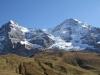 Eiger 3970m, Mönch 4099m in ihrer ganzen Prach