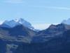 hi   Rosenhorn 3689m, Mittelhorn 3704m, Wetterhorn 3692m, Lauteraarhorn 4042m, Schreckhorn 4078m; vo Berge der Brienzerrothornkette