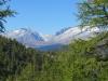 Sicht beim Aufstieg zum Mässersee; Schinhorn 3797m, vo Sparrhorn, Fusshörner