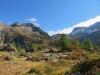 wunderbare Landschaft beim Aufstieg zum Mässersee ; li Rothorn 2887m