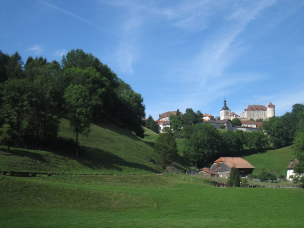Blick auf Gruyères