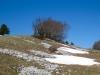 die letzten Schneereste am Mont Sujet